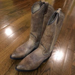Frye Shoes - Frye Cowboy Boots! 6 1/2 Worn once. Brand new.